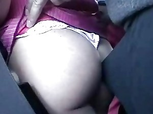 Kinky voyeur gropes a huge-boobed ash-blonde during the bus ride