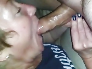 Passionate blowage from hot unexperienced milf wife