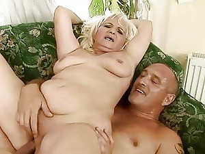 Naughty fat grandma having bang-out with old guy