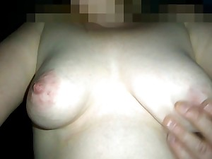 my wifes tits at window
