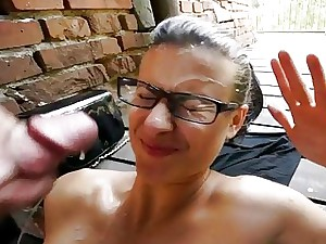 Czech whore payed for showcasing big boobs