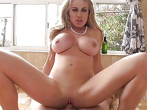 Phat boobs Corinne Blake bathroom nail