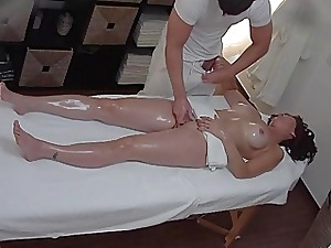 Busty MILF Gets Fucked Via Rub-down