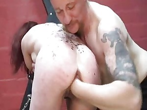 Gimp girl knuckle screwed till she screams