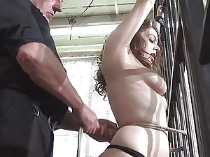 Whipped udders and rigid spanking of enslaved Beau