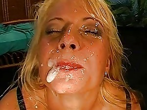 Reveling loads of pleased milky seeds delight damsels