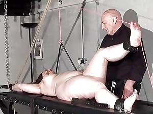 Rack tormented plus-size in extraordinary bondage and crying