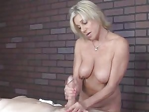Mummy providing a rubdown