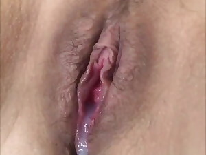 Japanese cougar packed with jizm