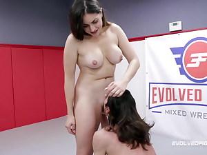 Valentina Bellucci Riding Cock In Grappling Struggle vs David