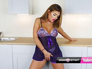 Anna Bailey Purple See-Through