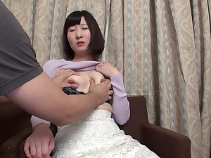 Asian nymph is cuckold, uncensored