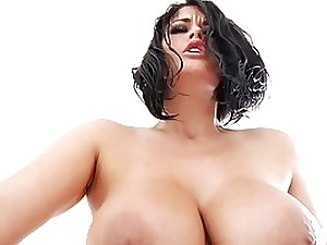 Carmella Bing is a meaty boobed dark-haired who luvs to hold her gams hoisted while getting pounded